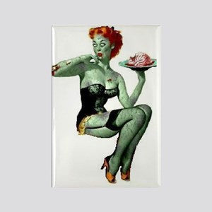 zombie pin-up girl Rectangle Magnet