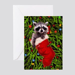 Raccoon Greeting Cards - CafePress