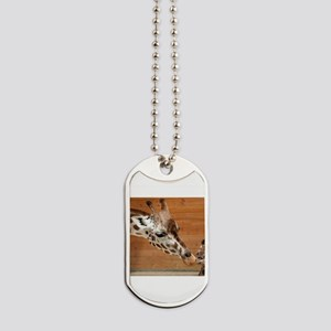 Kissing giraffes Dog Tags