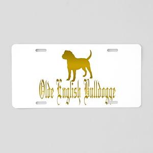 Olde English Bulldogge Gold Aluminum License Plate