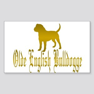 Olde English Bulldogge Gold Sticker