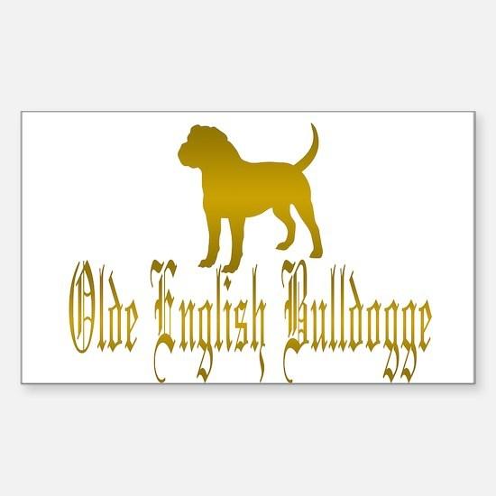 Olde English Bulldogge Gold Decal