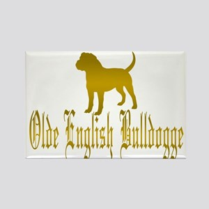 Olde English Bulldogge Gold Magnets