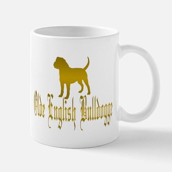 Olde English Bulldogge Gold Mugs