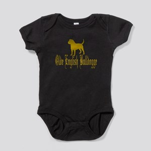 Olde English Bulldogge Gold Baby Bodysuit