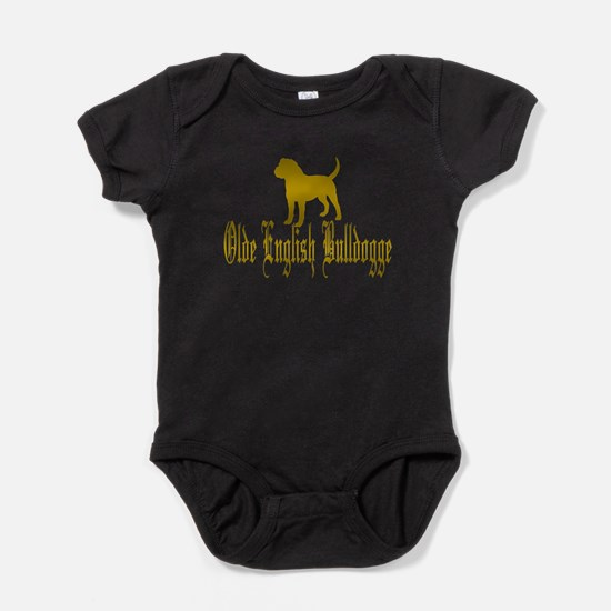 Olde English Bulldogge Gold Baby Bodysuit