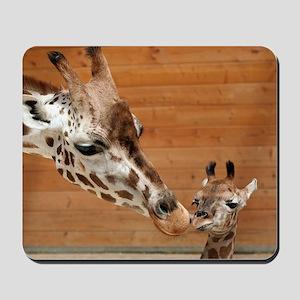 Kissing giraffes Mousepad