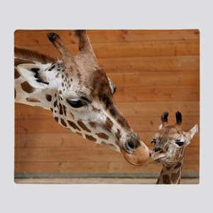 Kissing giraffes Throw Blanket