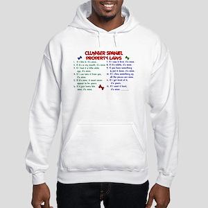 Clumber Spaniel Property Laws 2 Hooded Sweatshirt