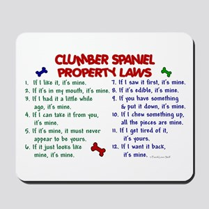 Clumber Spaniel Property Laws 2 Mousepad