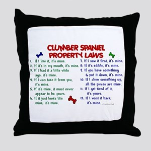Clumber Spaniel Property Laws 2 Throw Pillow