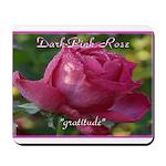 Dark Pink Rose Meaning Mousepad