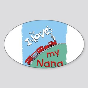 Train - Nana Oval Sticker