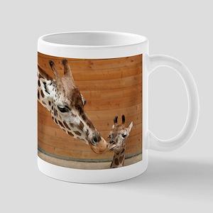 Kissing giraffes Stainless Steel Travel Mugs