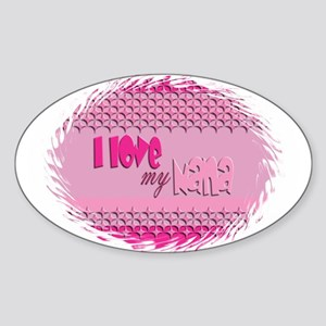 Pink Nana Oval Sticker