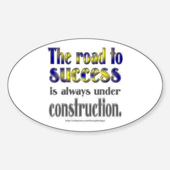 Road to Success Oval Decal