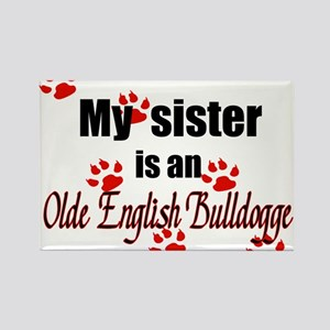 Olde English Bulldogge Sister Magnets