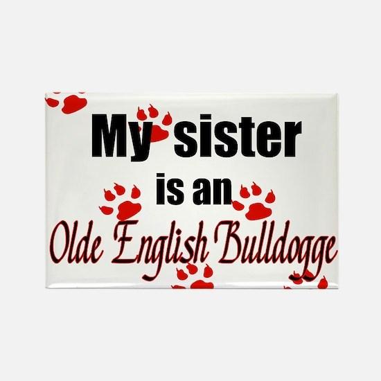 Olde English Bulldogge Sister Magnets