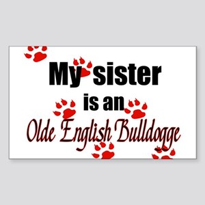 Olde English Bulldogge Sister Sticker