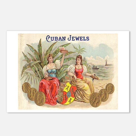 Cuban Jewels Cigar Art Postcards (Package of 8)