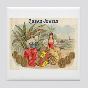 Cuban Jewels Cigar Art Tile Coaster
