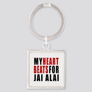 My Hear Beats For Jai Alai Square Keychain