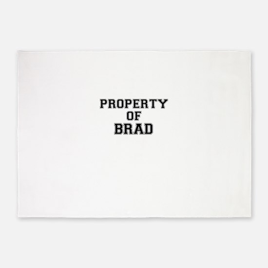 Property of BRAD 5'x7'Area Rug