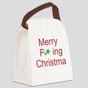 Merry F ing Christmas Canvas Lunch Bag