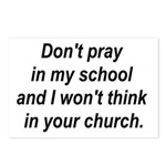 Don't pray in my school and I Postcards (Package o