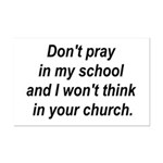 Don't pray in my school and I Mini Poster Print