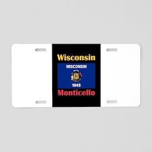 Monticello Wisconsin Aluminum License Plate
