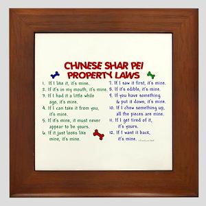 Chinese Shar Pei Property Laws 2 Framed Tile