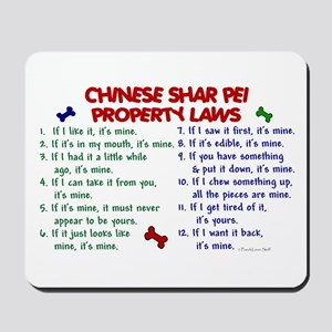 Chinese Shar Pei Property Laws 2 Mousepad