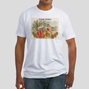 Cuban Jewels Cigar Art Fitted T-Shirt