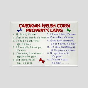 Cardigan Welsh Corgi Property Laws 2 Rectangle Mag