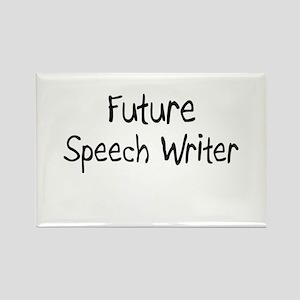 Future Speech Writer Rectangle Magnet