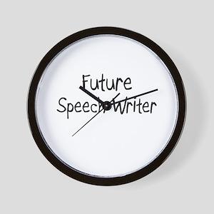 Future Speech Writer Wall Clock