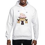 Pug Dog Cupcakes Hooded Sweatshirt
