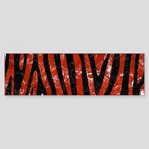 SKIN4 BLACK MARBLE & RED MARBLE Sticker (Bumper)