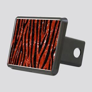 SKIN4 BLACK MARBLE & RED M Rectangular Hitch Cover