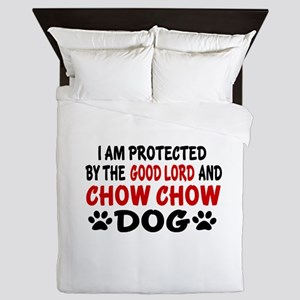 Protected By Chow Chow Dog Queen Duvet