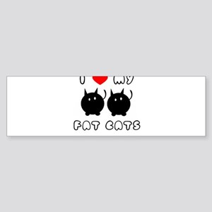 i love my fat cats Sticker (Bumper)