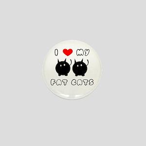 i love my fat cats Mini Button