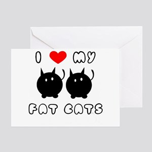 i love my fat cats Greeting Card