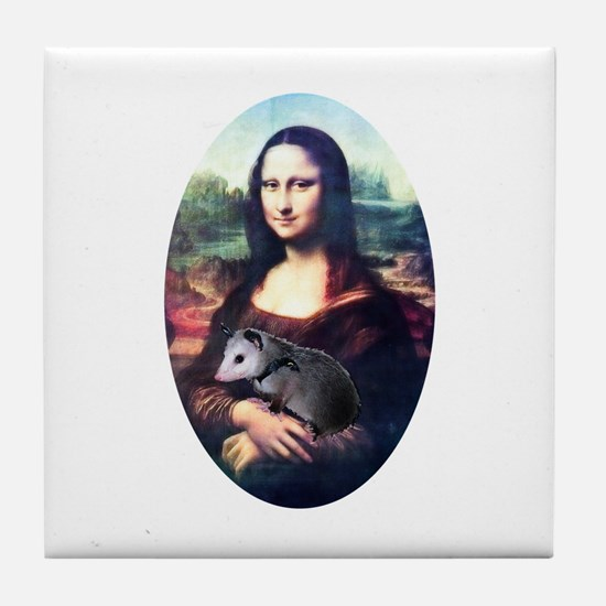 Mona Lisa Possum Tile Coaster