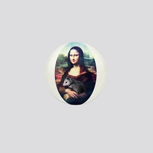 Mona Lisa Possum Mini Button