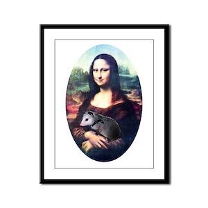 Mona Lisa Possum Framed Panel Print