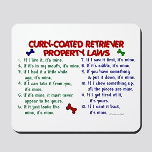 Curly-Coated Retriever Property Laws 2 Mousepad