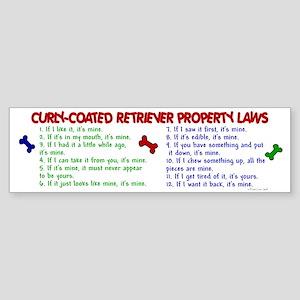 Curly-Coated Retriever Property Laws 2 Sticker (Bu