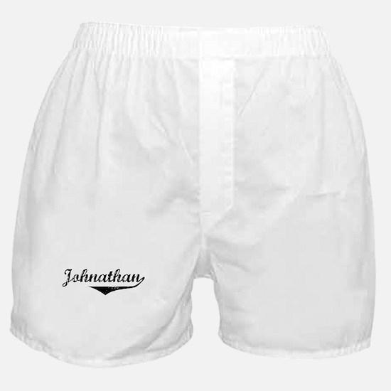 Johnathan Vintage (Black) Boxer Shorts